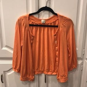 Anthropologie Coral Sweater